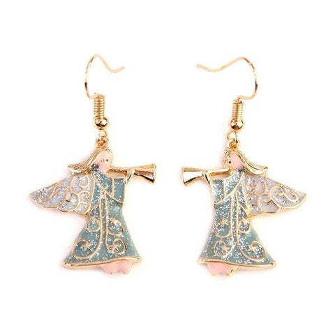 Glitter Angel Hook Earrings