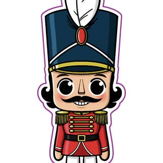 Mini Nutcracker Vinyl Sticker