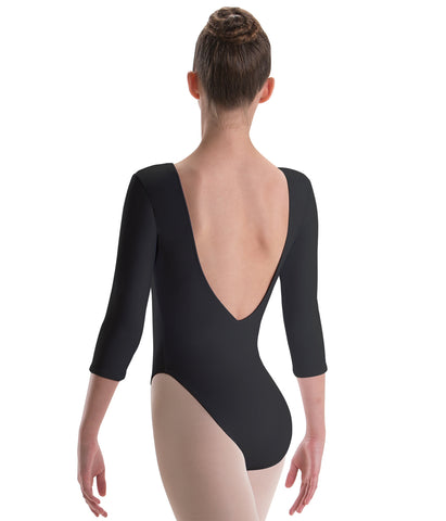 Pinch Front 3/4 Sleeve Leotard - 2184 497