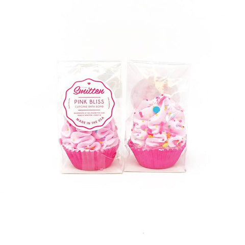Mini Pink Bliss Cupcake Bath Bomb