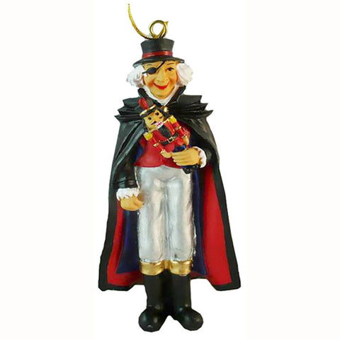 Uncle Drosselmeyer with Nutcracker Gift Resin Ornament - ORN-D