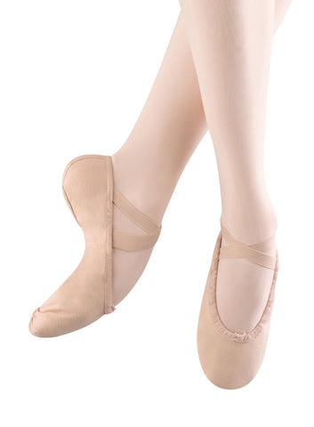 Child Pump Canvas Split Sole Ballet Shoe - S0277G