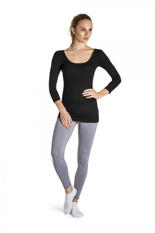 "Ladies 3/4"" Sleeve Ribbed Top - ZST1291"