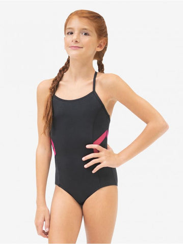 Colorblock Halter Strap Leotard - 11396W
