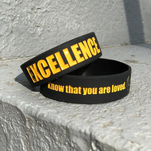 EXCELLENCE. Wristbands Black/Gold