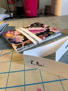 5 Fabric Faced Note Cards with Envelopes