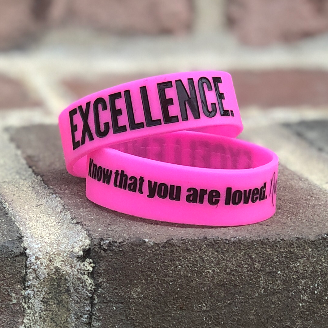 EXCELLENCE. Wristbands Pink