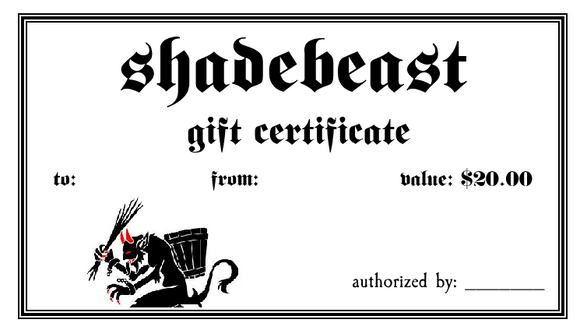$20 Gift Certificate