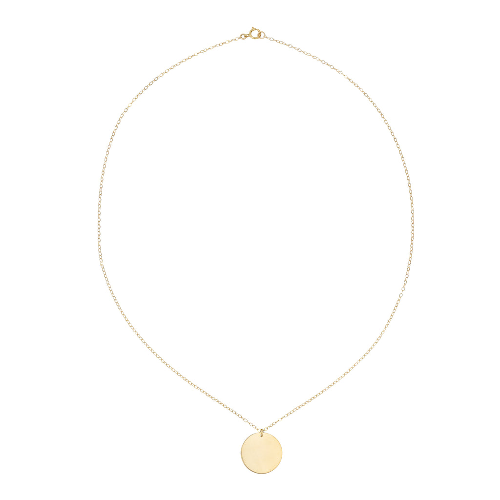 14k Gold Filled Oversized Coin Necklace