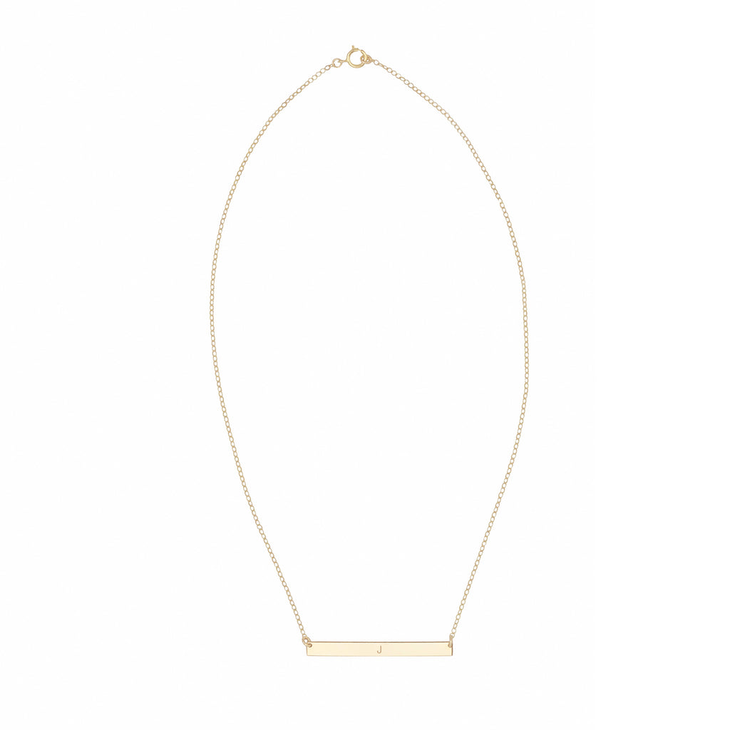 14k Gold Filled Customizable Bar Necklace