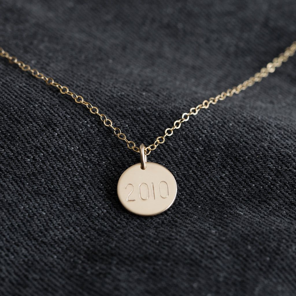 14k Gold Filled Customizable Coin Necklace