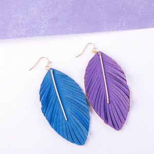 Feathered Fabric Earrings
