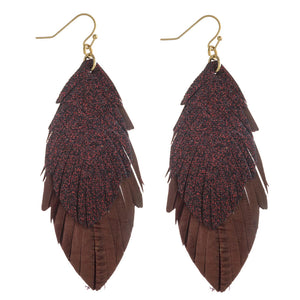 Feather Glitter Earrings