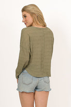 Olive Long Sleeve Top
