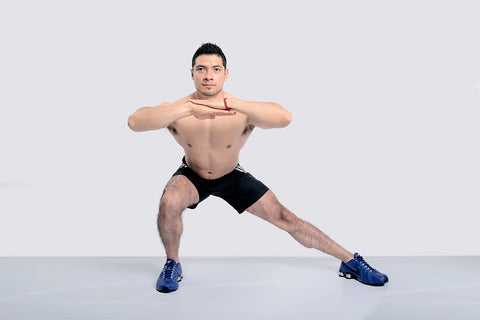 side lunges as a bodyweight workout