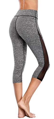 Womens Active Leggings With Mesh Sides - Exercise Earth