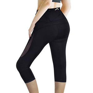 High Waisted Yoga Capri With Back Pocket - Exercise Earth