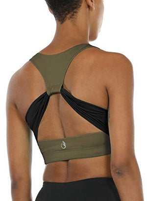 Army Green Sports Bra - Exercise Earth