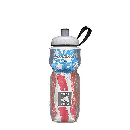 American Flag Insulated Water Bottle - 20oz - Exercise Earth