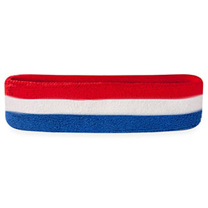 Red, White & Blue Sweatband/Headband - Exercise Earth