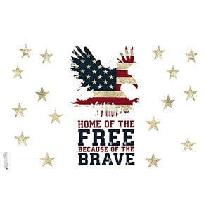 Home of the Free Because of the Brave 16oz Tumbler with Navy Lid - Exercise Earth