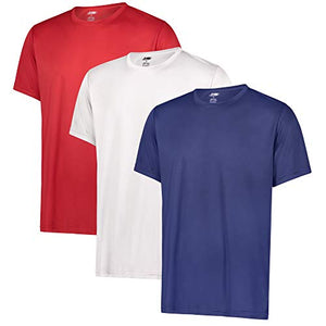Men's Dry-FIT Moisture Wicking Performance Crew Neck T-Shirts, 3-Pack - Exercise Earth
