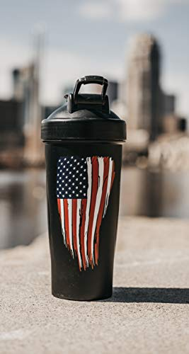American Flag Protein Shaker Bottle - Exercise Earth