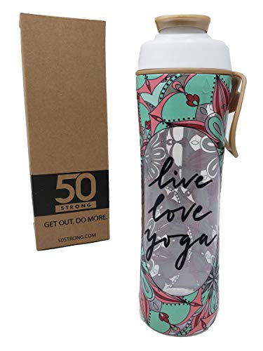 Live Love Yoga BPA Free Water Bottle - 24 oz. - Exercise Earth