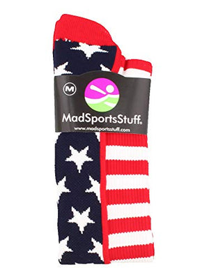 American Flag Stars and Stripes Over The Calf Socks - Exercise Earth