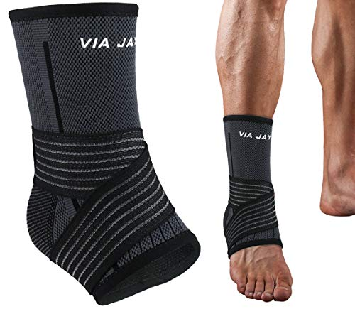 Ankle Compression Sleeve, 1 Piece - Exercise Earth