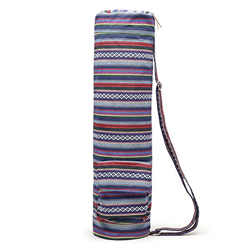 Full-Zip Exercise Yoga Mat Bag with Multi-Functional Storage Pockets - Exercise Earth