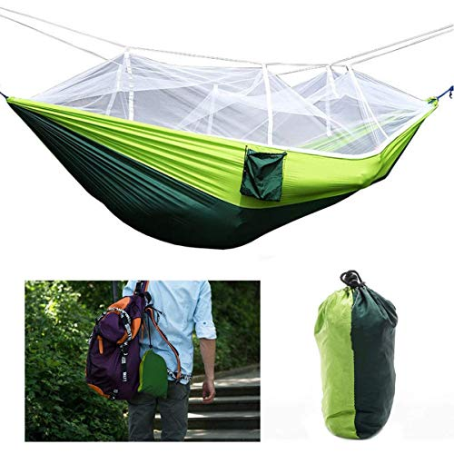 Double Camping Hammock with Mosquito/Bug Net - Exercise Earth