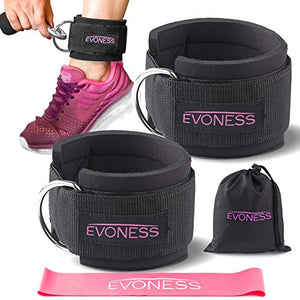 Ankle Straps for Cable Machines and Resistance Band - Exercise Earth
