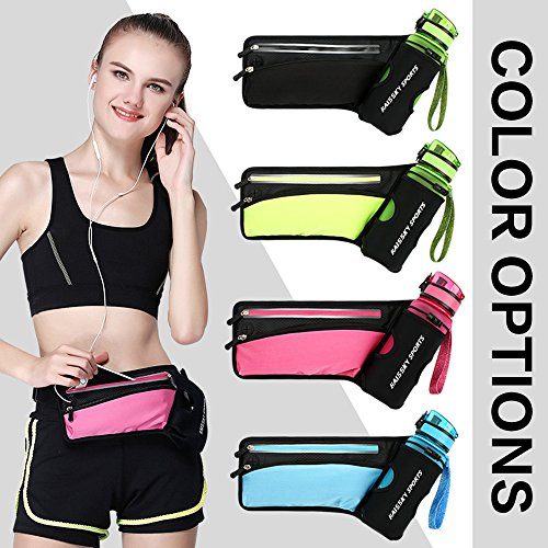 Fanny Pack with Water Bottle Holder & Zipped Pocket - Exercise Earth