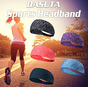 Set of 5 Women's Athletic Headbands - Exercise Earth