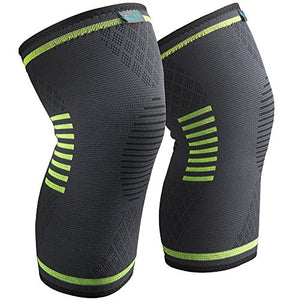 Compression Knee Brace, 2 Piece - Exercise Earth