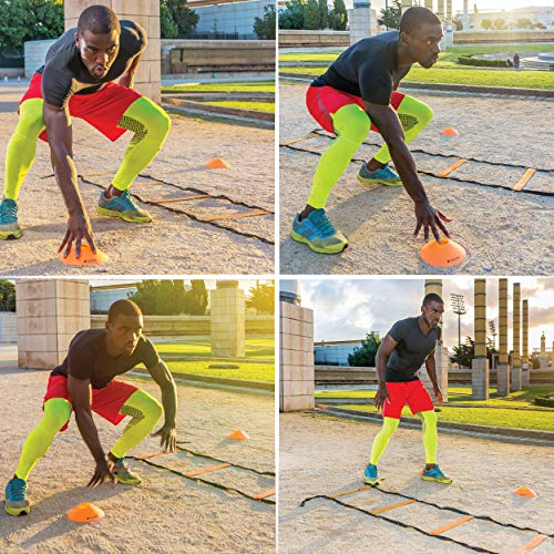 20ft Agility Ladder & Speed Cones Training Set - Exercise Earth