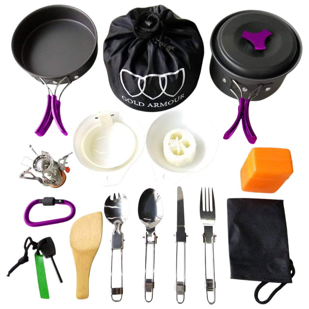 Camping Cookware Kit - 17 Piece - Exercise Earth
