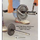 "T-Bar Holder - Fits 1"" And 2"" Bars With 1"" Adaptor - Exercise Earth"