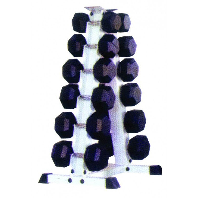 Dumbbell Rack For Hex Rubber Cushbells - Exercise Earth