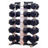 Dumbbell Rack - 10 Pairs. For Hex Rubber Cushbells - Exercise Earth