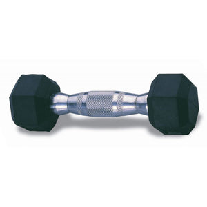 Rubber Hex Dumbbell Set - 5 - 25 Lb - 5 Pairs With Rack - Exercise Earth