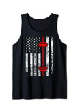 American Flag Weight Lifting Tank Top