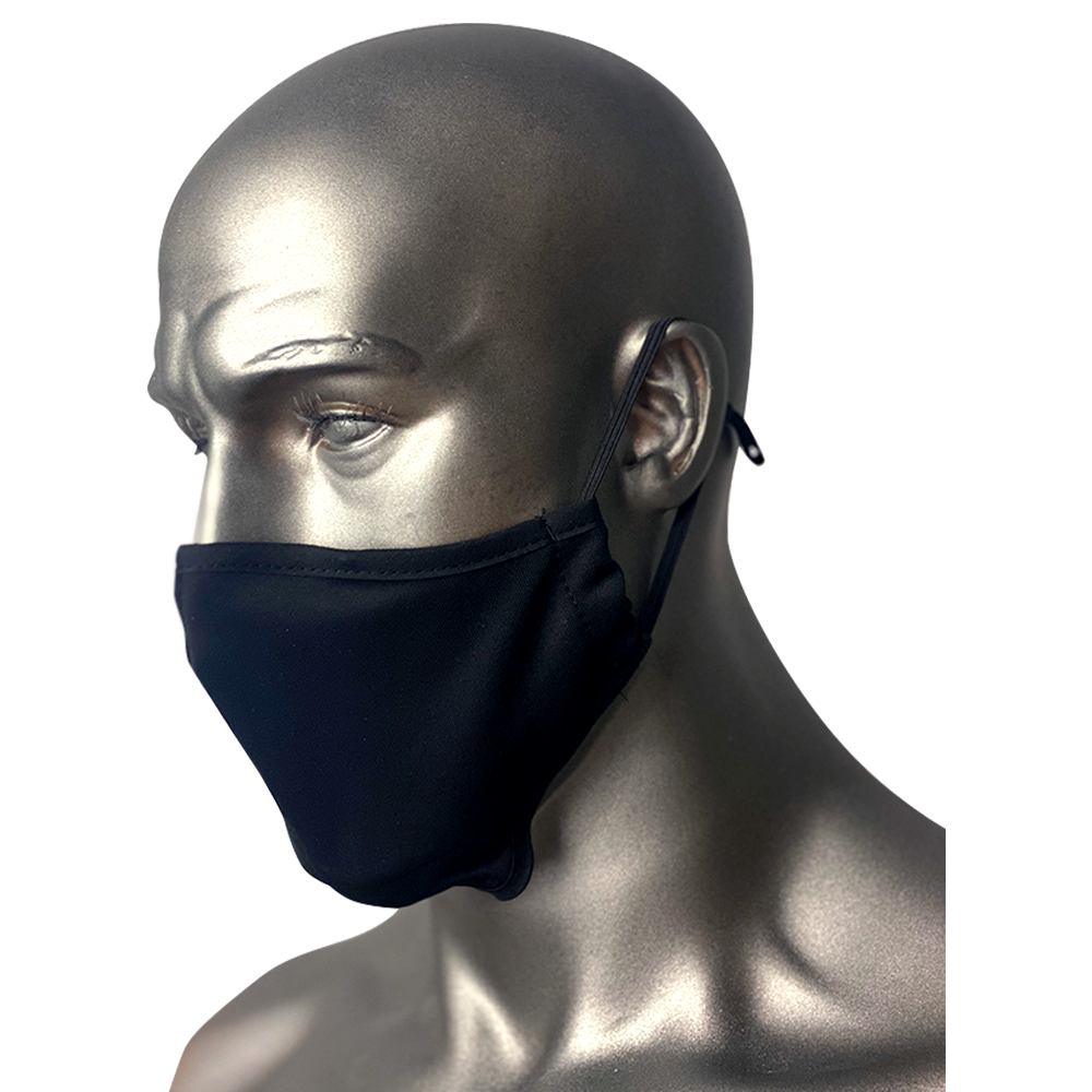 Super Air Mask Designed in North America High Quality Polyester Nurse Reusable Black Mask Dual Layer Fitness Approved Protection PPE