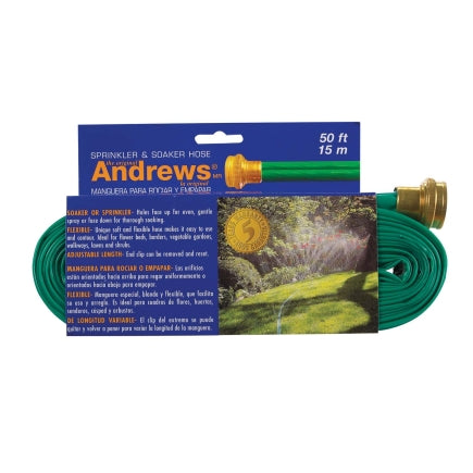 Andrews 1 in. Dia. x 50 ft. L Sprinkler Gentle Soaker Kink Resistant