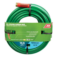 Ace All-Season 5/8 in. Dia. x 75 ft. L Garden Hose Kink Resistant