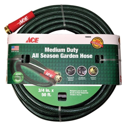 Ace All-Season 5/8 in. Dia. x 100 ft. L Garden Hose Kink Resistant