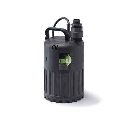 Ecoflo Thermoplastic Submersible Pump 1/3 hp 2880 gph 115 volts