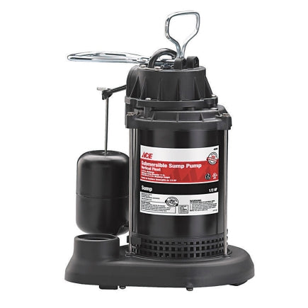 Ace 1/2 hp 3600 gph Plastic Submersible Sump Pump