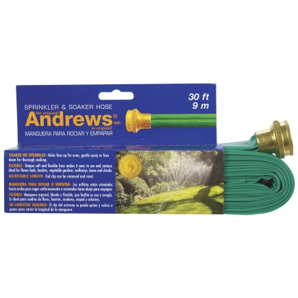 Andrews 1 in. Dia. x 30 ft. L Gentle Soaker Kink Resistant